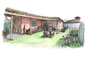 TT Tuppenny Barn sketch side view